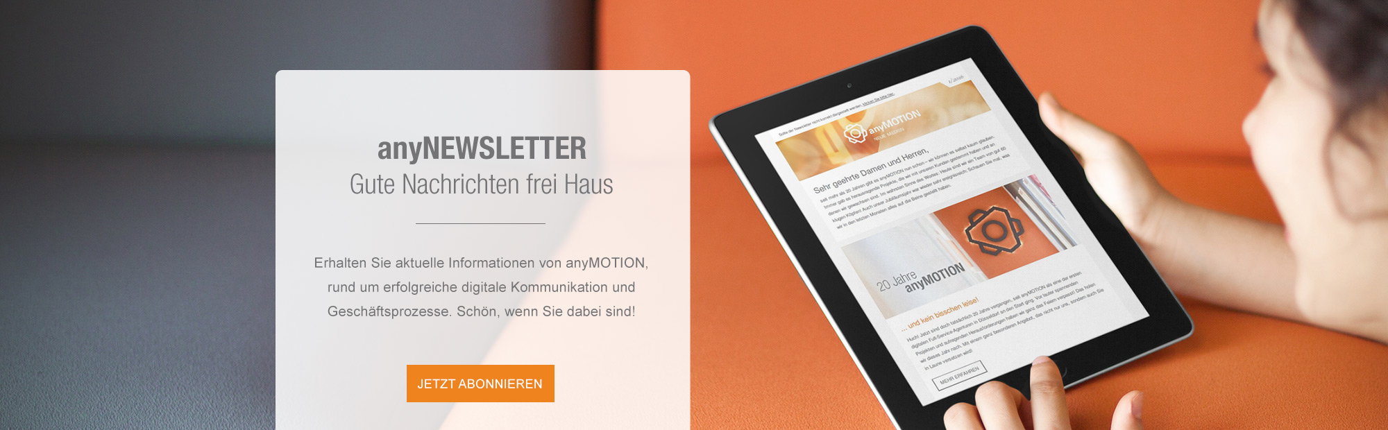 Newsletter von anyMOTION